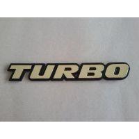 Αυτοκόλλητο Turbo ασημί/χρυσό